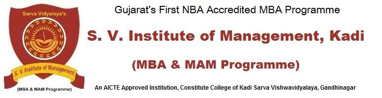 S. V. Institute of Management (MBA)